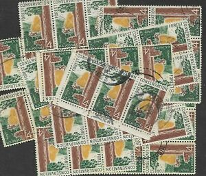 Postage Stamps For Crafting: 1958 4c Forest Conservation; Multi-Color; 50 Copies