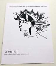 Partition moderne sheet music CLAUDE NOUGARO : Vie Violence * 90's