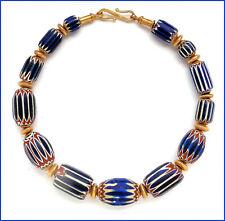 """Collier mit antiken Chevron-Perlen (CC #7: """"King of Beads"""")"""