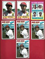 JIM RICE 7 CARD LOT TOPPS 1975 #616 ROOKIE 1976 #340 77 #60 MLB BASEBALL CARDS