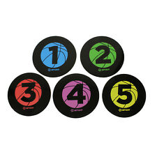Basketball Training Disc Spot Markers 5-Pack Court Floor Poly Spots
