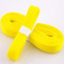 "5yds 3/8"" (10 mm) yellow Solid Christmas Grosgrain Ribbon Hair Bows Ribbion#"