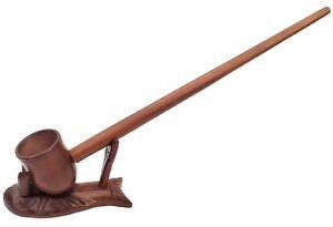 "Rustic Churchwarden Hobbit Pipe tobacco Wizard Lotr  Pipe long stem 11"" inches"