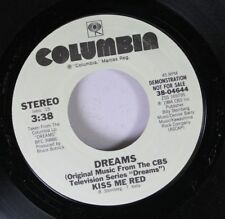 Rock Promo 45 Dreams - Kiss Me Red / Kiss Me Red On Columbia