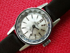 VINTAGE  1968  WOMEN'S  OMEGA  DEVILLE   MANUAL  WINDING  CAL 484  SILVER  DIAL