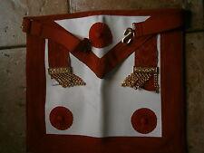 GREMBIULE ANNI '70 PELLE GRAN MAESTRO MASSONERIA GRANDE ORIENTE D'ITALIA Masonic