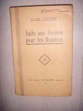Ardèche: Les Ollières: Poésie: Suite aux poèmes pour les humbles, 1925, BE