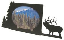 Bugling elk black metal 5x7H picture frame
