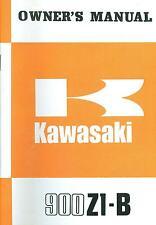 1975 KAWASAKI 900 Z1-B OWNER'S MANUAL