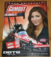 "2014 Leah Pritchett Gumout ""2nd issued"" Top Fuel NHRA postcard"