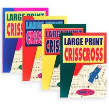 Large Print Criss cross(set of 4), Elderly,Dementia Activities Product