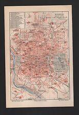 Landkarte city map 1896: Stadtplan: MADRID. Spanien Hippodrom Casa del Campo