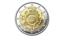 MALTA €2 Commemorative 'Ten Years of the Euro' 2012