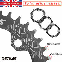 UK 32/34/36/38t 104bcd Narrow Wide Chainring Round Oval Single MTB Bike Chainset