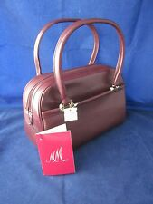 M   M Morris Moskowitz Burgundy Leather Purse ~ VINTAGE NEW with TAGS 818942605a403