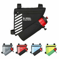Bicycle Cycling Triangle Front Frame Tube Bag Bike Pannier + Bottle Pocket Pouch