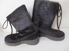 Vintage Pajar Goat Hair Fur Boots Italy Made Sz 39