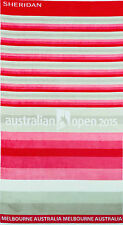 NEW Australian Open 2015 Sheridan Limited Ed Red Cotton Beach Towel 100x180cm