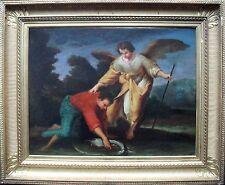 Tobias e l'angelo ITALIANO SCUOLA BOLOGNESE c1750 dipinto ad olio