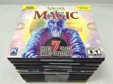 LOT OF 10 NEW SAGAS OF MAGIC 7 HIDDEN OBJECT GAMES COLLECTION PC DVD-ROM