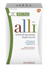 alli  Diet Pills for Weight Loss, Orlistat Refill Pack 120 Capsule, Exp 12/2020