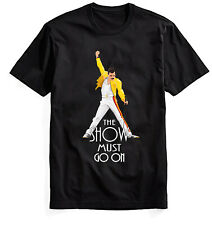 Queen Freddie Mercury Clasic T Shirt Black white Tee The Show Must Go on Gift