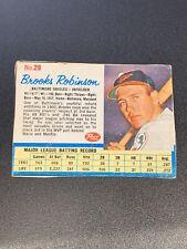 Vintage Brooks Robinson 1962 Post #29 - Hand Cut / Blank Back Baltimore Orioles