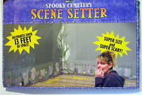 Halloween Decoration Prop Spooky Graves Skulls Cemetery Large Scene Setter