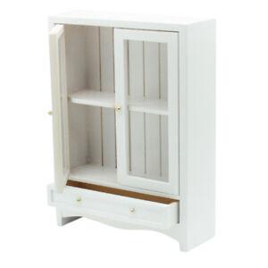 12th Dollhouse Wooden Bookshelf Bookcase Living Room Study Room Ornaments