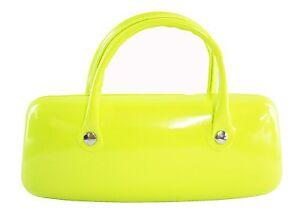 Neon Glasses Sunglasses Case Pouch Bright Pink Green Orange Gift Present NEW