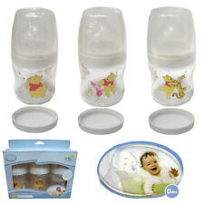 Set of 3 -Genuine Licensed Disney Feeding Bottle Winnie The Pooh Wide Neck 150ml