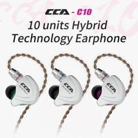 CCA C10 4BA+1DD Hybrid 3.5mm In Ear Earphone HIFI DJ Monitor Running Headset #K