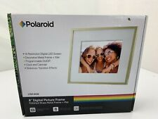 "Polaroid 8 "" Digital Bild Poliert Messing Metall Fram + Matte Neu"