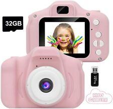 Kids Camera,Mini Rechargeable Child Digital Camera Shockproof Video Camcorder