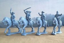 Plastic Toy Soldiers American Civil War Confederate General Staff Mounted 1/32