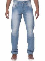 Nuevo Apt Hombre Vaqueros Rectos Corte Normal Pantalón Todas Talla Cintura