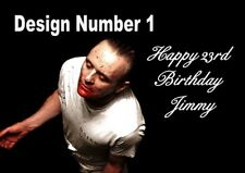 Hannibal Lector cannibal Horror Personalised Large Birthday Card Dad Uncle Mum