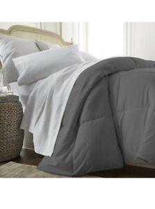 New Linen Market Comforter King/California King Gray down alternative