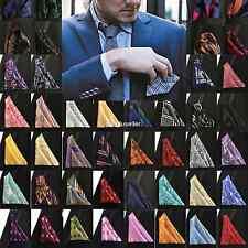 Sale 100 Colors Men's Silk Handkerchief 10' Plaids  Paisley Pocket Square Hanky