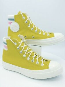 CONVERSE CHUCK TAYLOR ALL STARS High Top Sneakers Yellow/Lime Wool Sz M7.5 W9.5