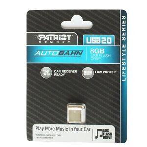 Patriot 8GB Autobahn Series Ultra Compact USB 2.0 Flash Drive - PSF8GLSABUSB