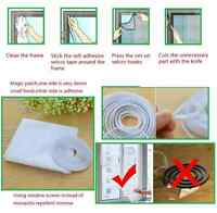 A White color Window Screen Mesh Net Insect Fly Bug Mosquito Moth Door Netting
