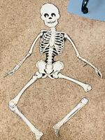 """VTG Large 50"""" Paper Hanging Halloween Skeleton articulated skull"""