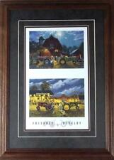 Dave Barnhouse Friendly Rivalry Tractor Farm Print-Framed