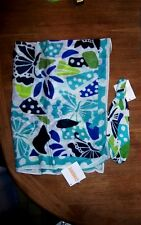 Gymboree Scarf Set 2pc Blues White Floral Hairband Summer Girl One Size New