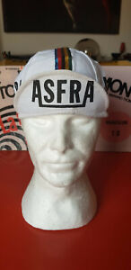 Vintage 1985 ASFRA cycling cap casquette maglia ciclismo jersey