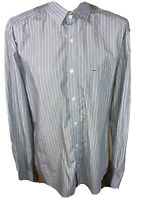 Lacoste Mens Long Sleeve Striped Slim Fit Button Up Dress Shirt Size 42 NWOTS