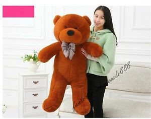 39'' Giant Cute Dark Brown Plush Teddy Bear 100Cm Huge Cushion Toy Birthday Gift