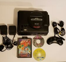 Sega CD / Genesis Model 1 System Working - New Save Battery - 3 Games