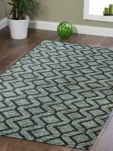 Transitional Handmade Sumak Carpet Indian Oriental Geometric Vintage Area Rug